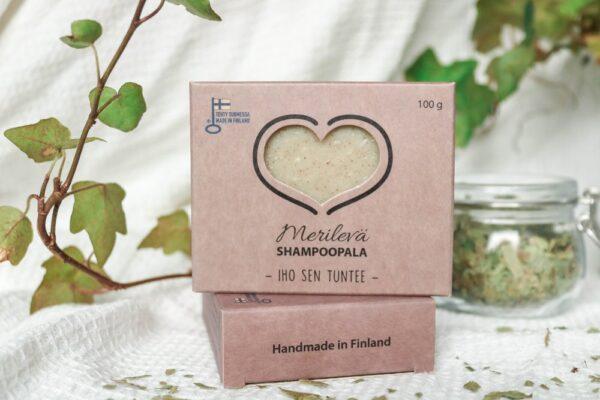 Merilevä Shampoopala hajusteeton
